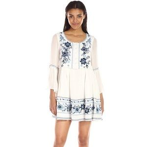 French Connection Sunshine Bloom Embroidered Dress